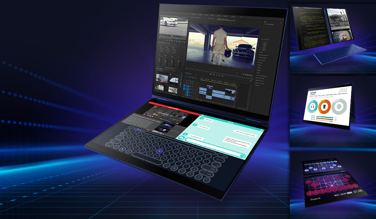 Asus Unveils Project Precog, Double Screen Laptop