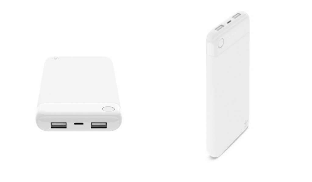 The Belkin BOOST CHARGE power bank comes also in white