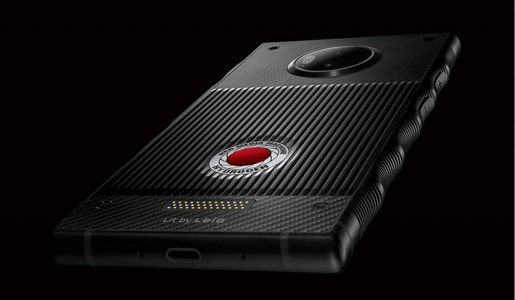 Red Hydrogen One, seen from the back